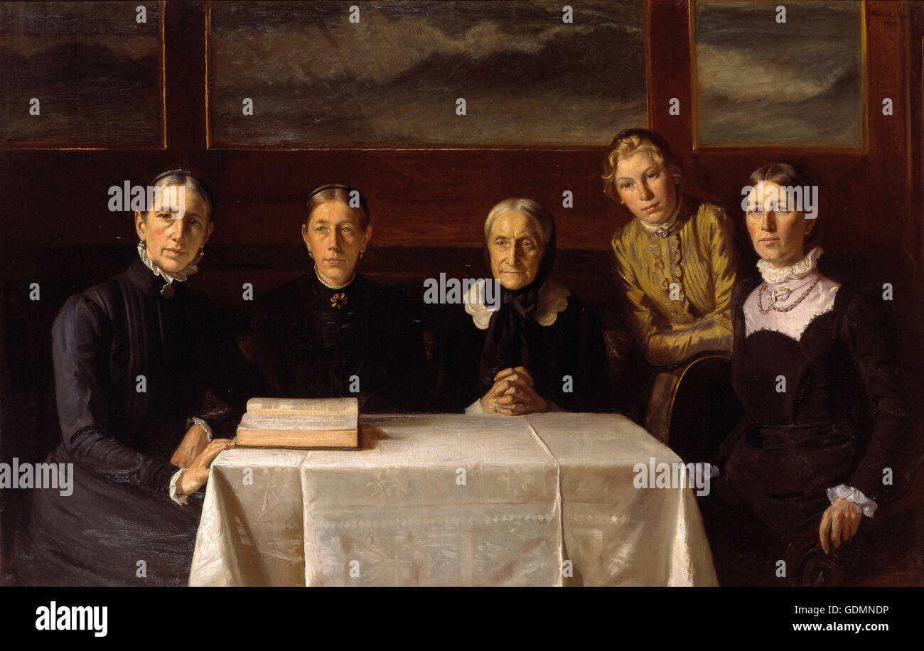 Michael Ancher - Christmas Day 1900 - Stock Image