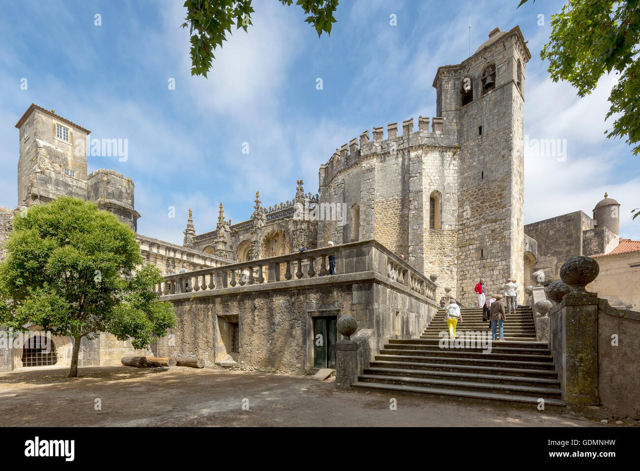 Fortress of Tomar, the castle of the Knights Templar, Templar, UNESCO Heritage, Tomar, Santarem, Portugal, Europe, - Stock Image