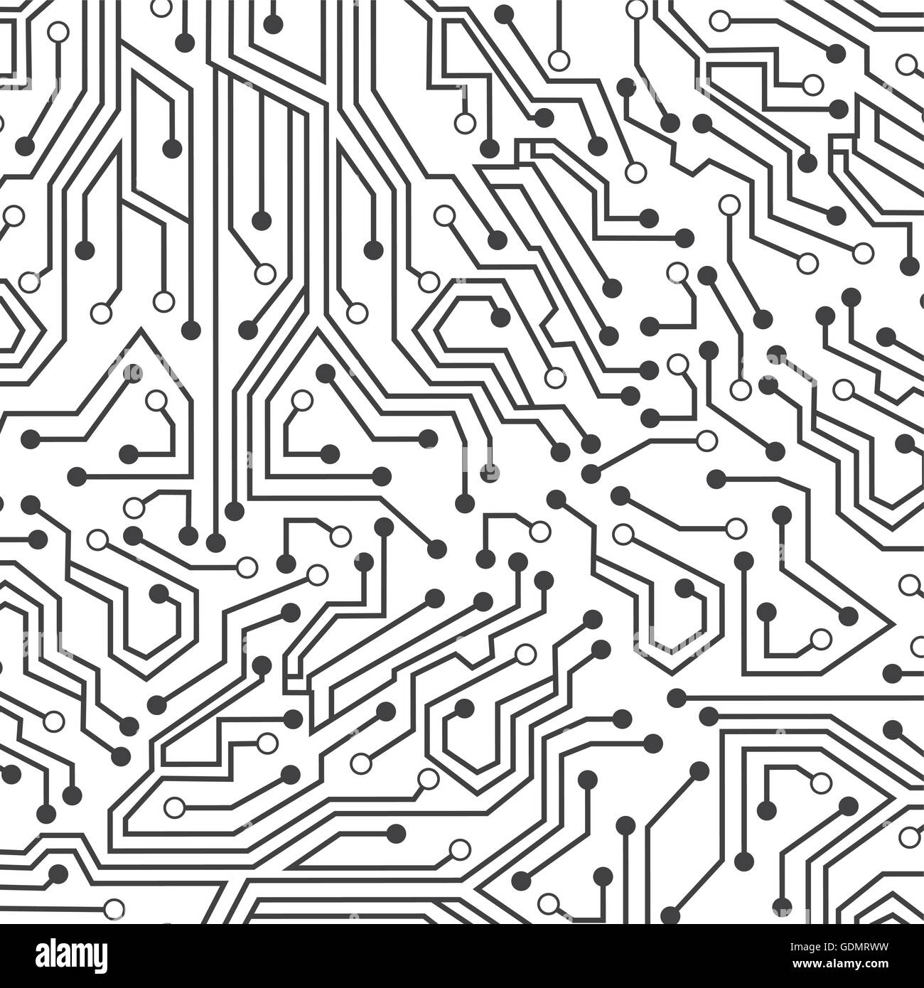 Circuit Electric Wallpaper Icon Stock Vector Art