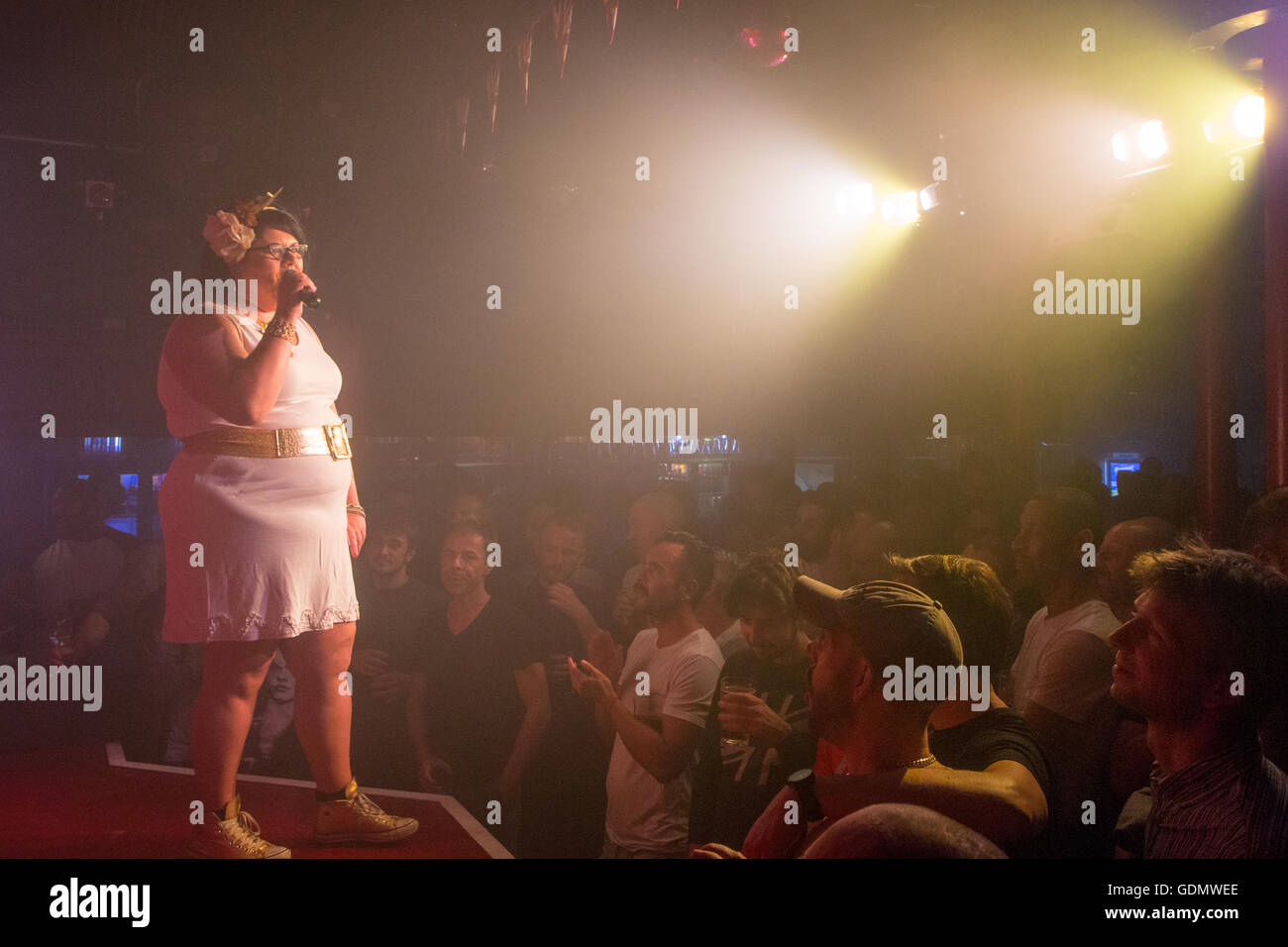Amy Lamé at the Royal Vauxhall Tavern - Stock Image