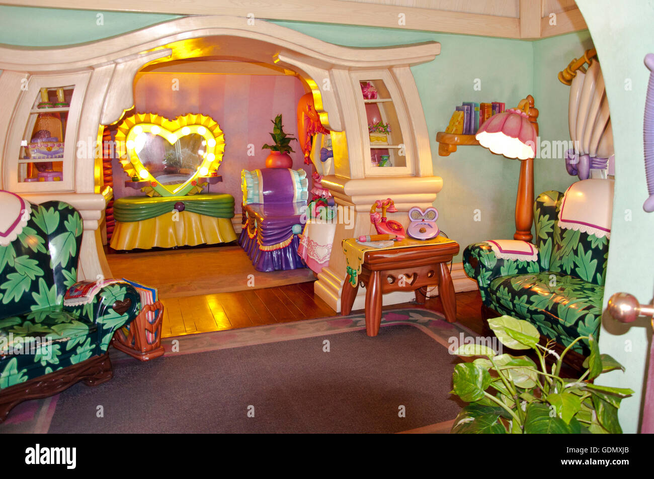 Mickey Mouse House In Disneyland Amusement Park, California.