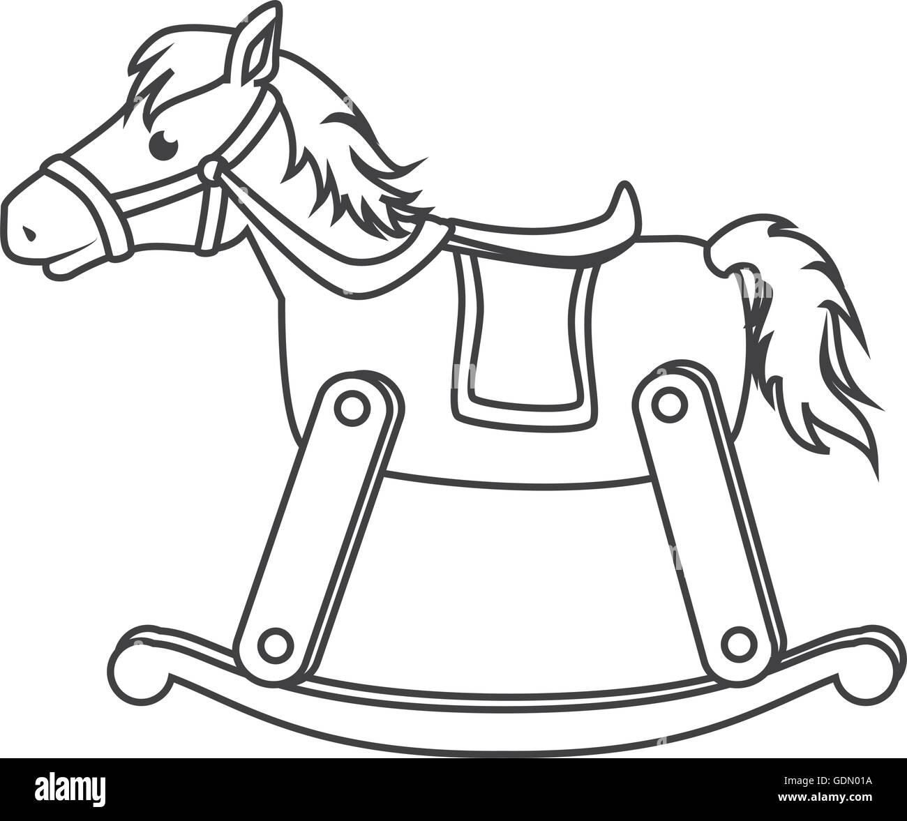 Wooden Horse Toy Icon Vector Illustration Stock Vector Image Art Alamy