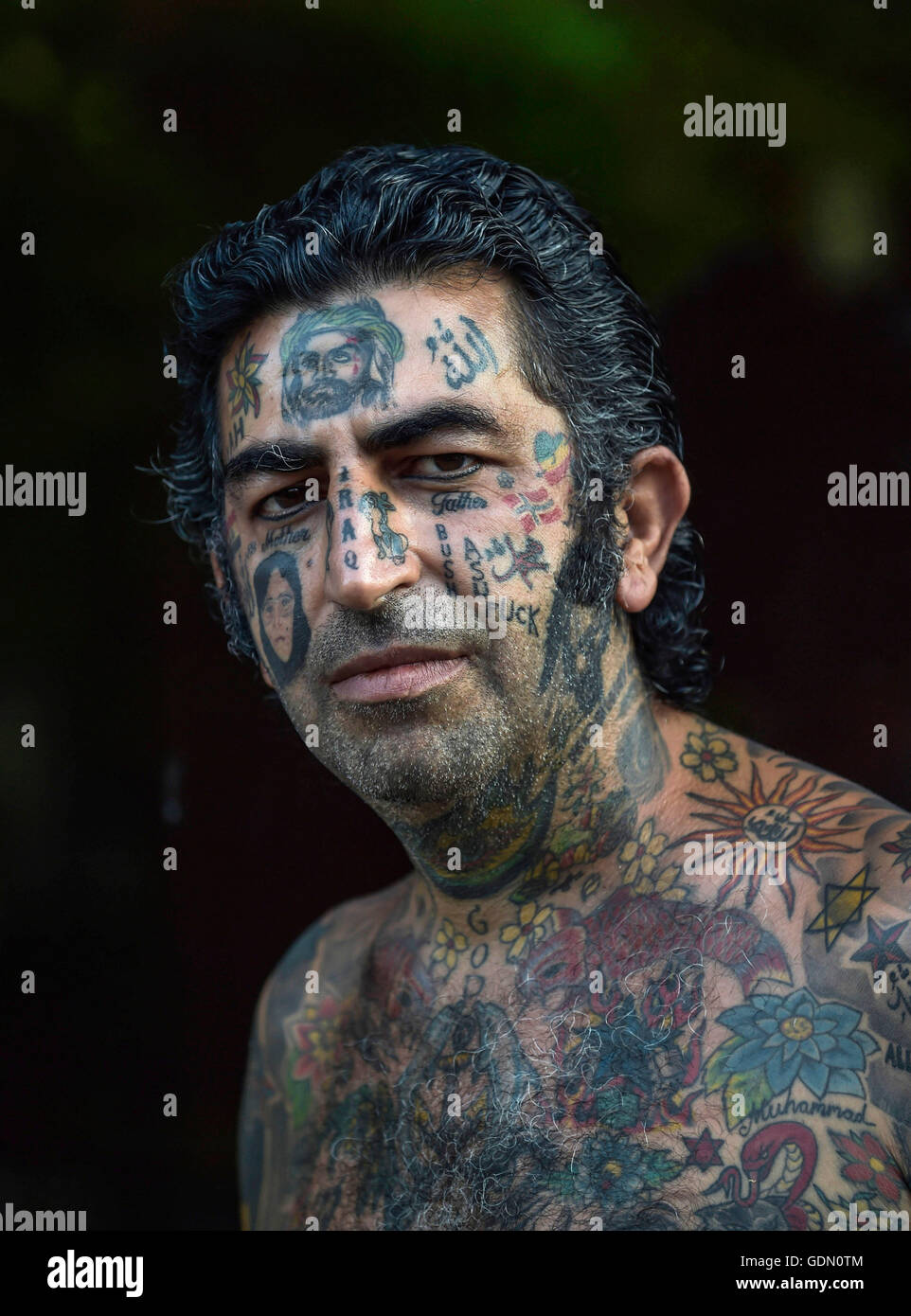 02f6e73d9fbdc Male Face Tattoos Stock Photos & Male Face Tattoos Stock Images - Alamy