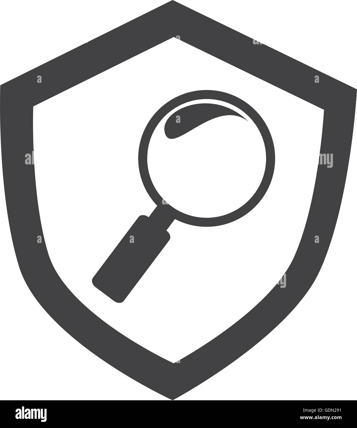 73f9736e1 Magnifying glass icon vector illustration graphic design - Stock Image