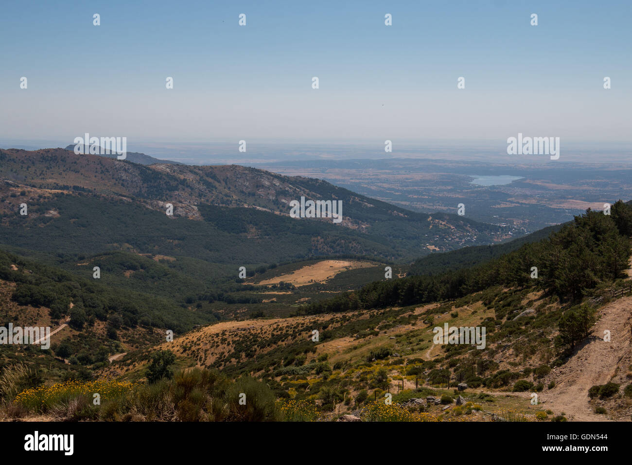 Landscapes of Sierra de Madrid Stock Photo