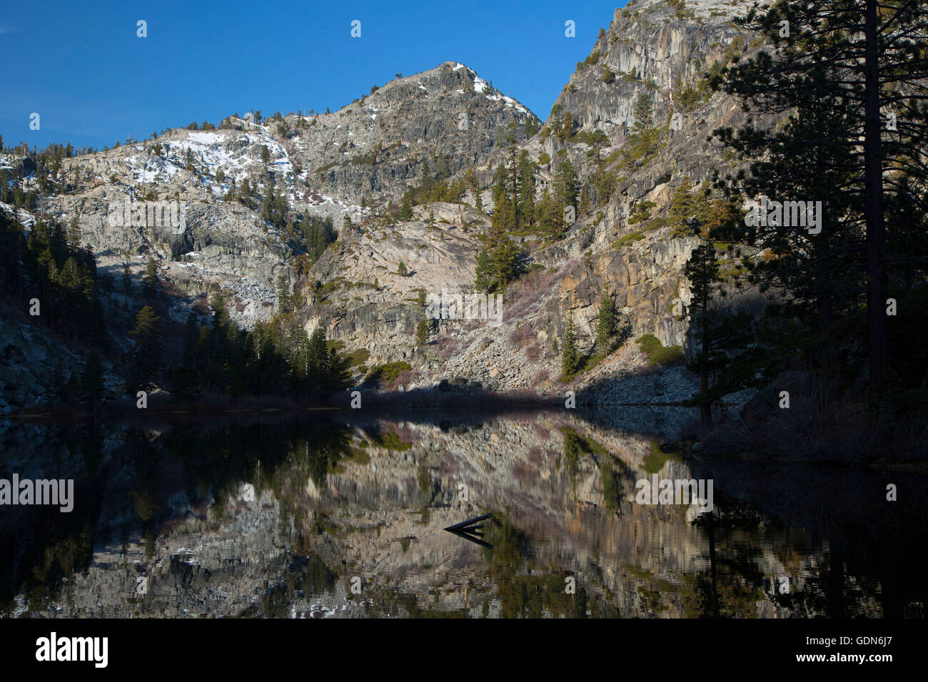 Eagle Lake along Eagle Lake Trail, Desolation Wilderness, Lake Tahoe Basin National Forest, California - Stock Image