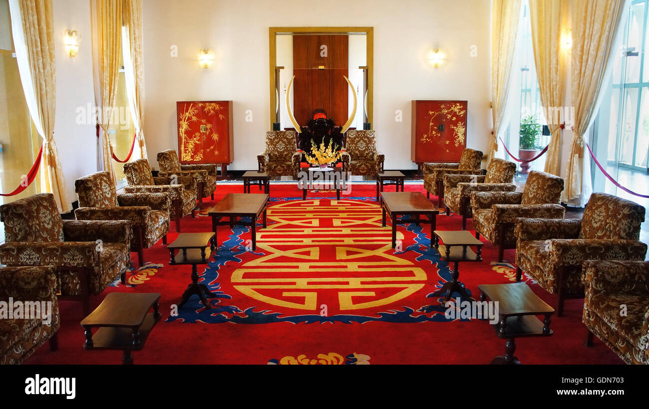 Antique view of Independence Palace interior, beautiful living room - Stock Image