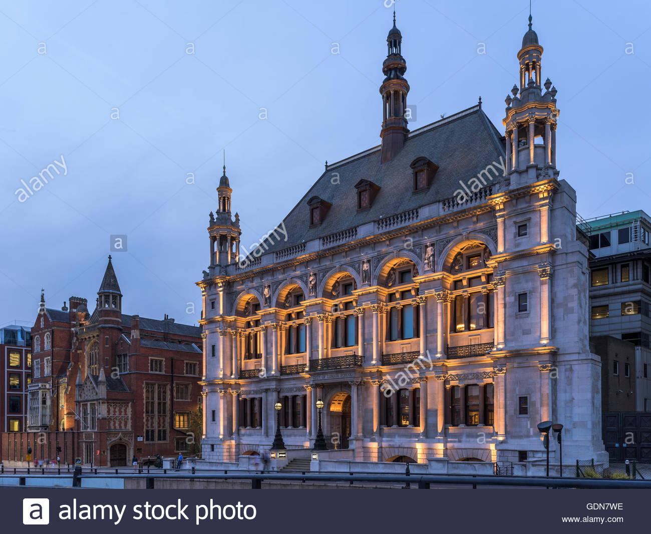 City of London School - Victoria Embankment Building - Stock Image