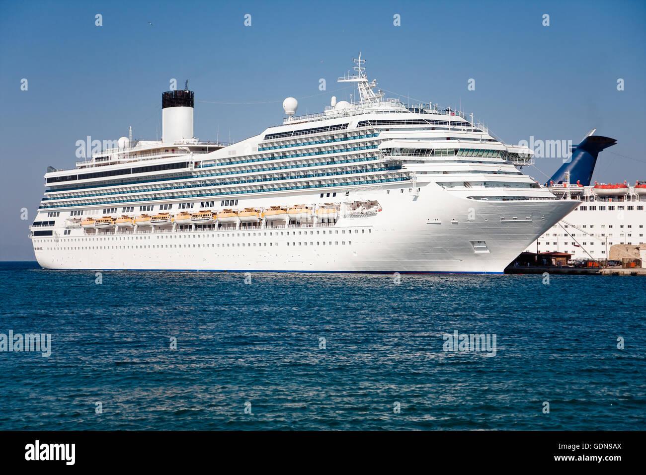 Cruise ship side - Stock Image