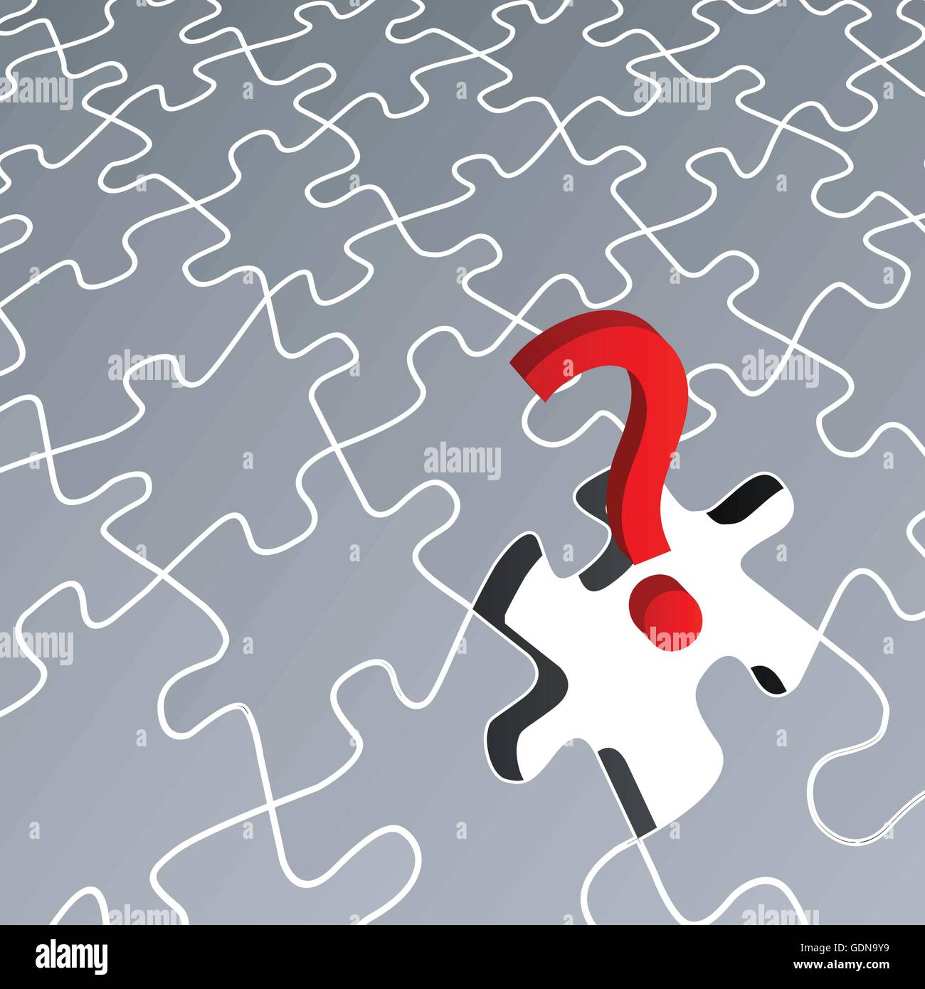 Puzzle Missing Vector Background Concept For Poster
