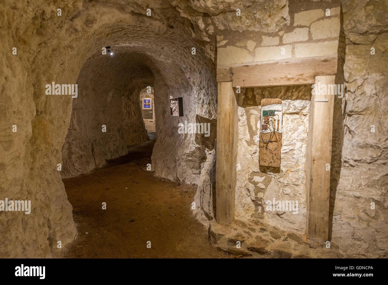 Les Caves Du Manoir exhibition in the caves of artist richard rak, manoir de la