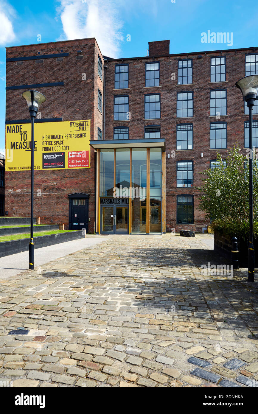 Marshall Mills property redevelopment for mixed use and residential - Stock Image