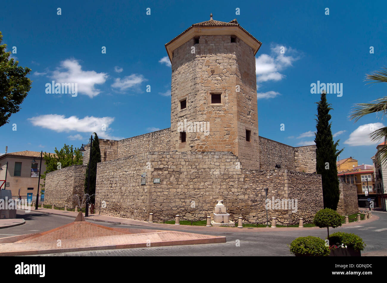 The Moral Castle - 11th century, Lucena, Cordoba province, Region of Andalusia, Spain, Europe - Stock Image