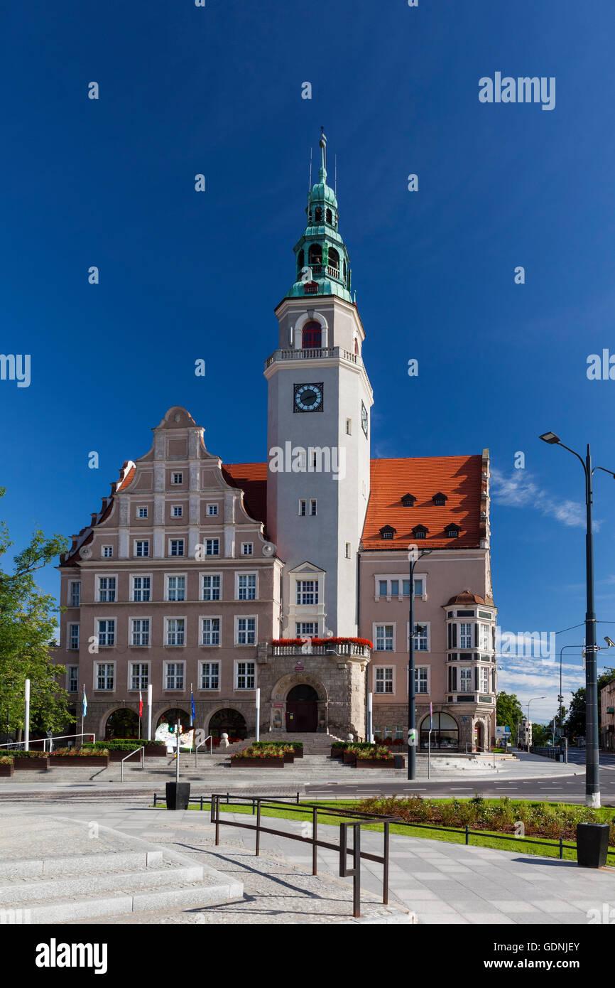Olsztyn, Neo-Renaissance town hall, Poland, Europe. - Stock Image