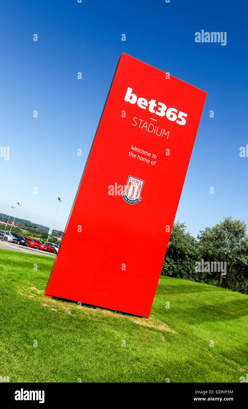 The bet365 Stadium, home ground of English Premier League football club Stoke City, Stoke-on-Trent, Staffordshire - Stock Image