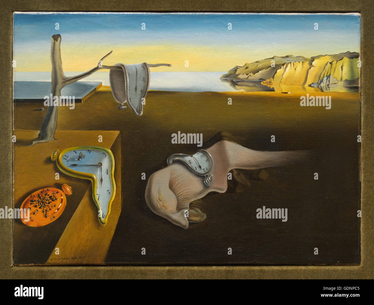 The Persistence of Memory, Salvador Dali, 1931 - Stock Image