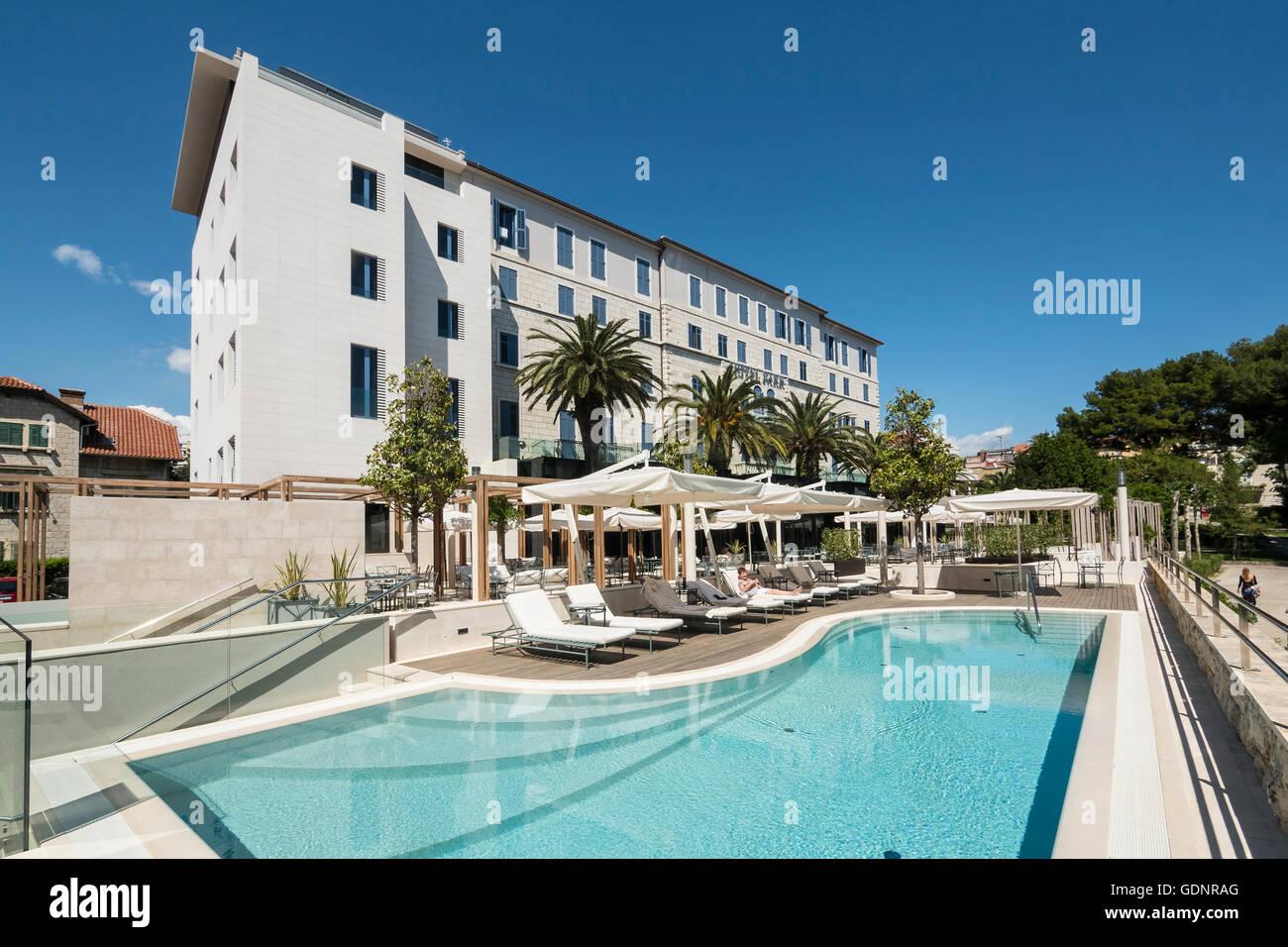Hotel Park, Hatzeov perivoj 3, 21000 Split, Hrvatska Split, Croatia, Dalmatian Coast - Stock Image