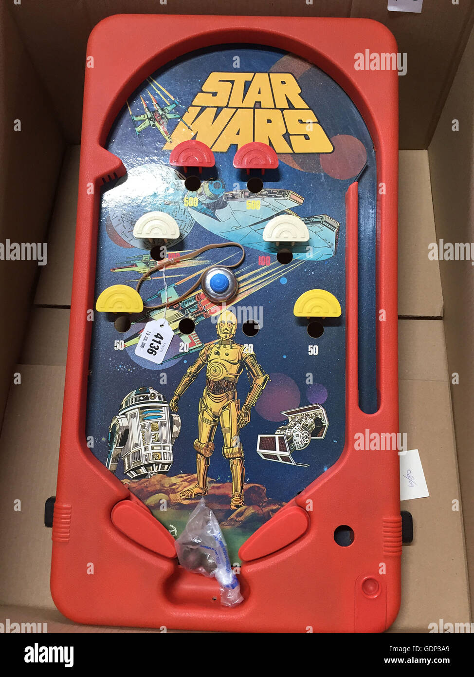 One of the Star Wars figures which is part of a large private collection of 700 items which are expected to bring in around £500,000 when they go under the hammer at Vectis Auctions in Thornaby, Teesside. Stock Photo