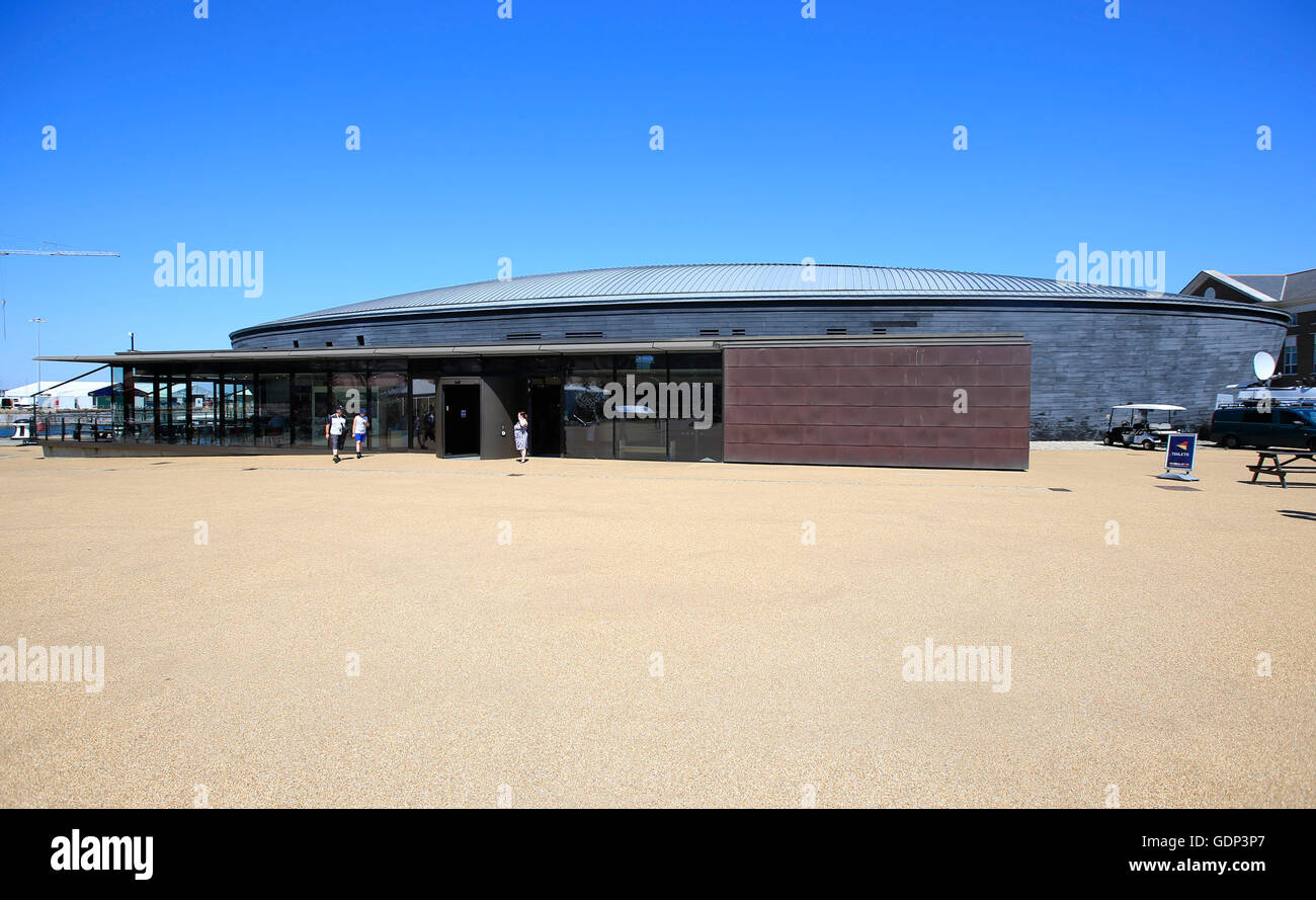 A general view of the Mary Rose Museum, Portsmouth Historic Dockyard, HM Naval Base, Portsmouth. Stock Photo