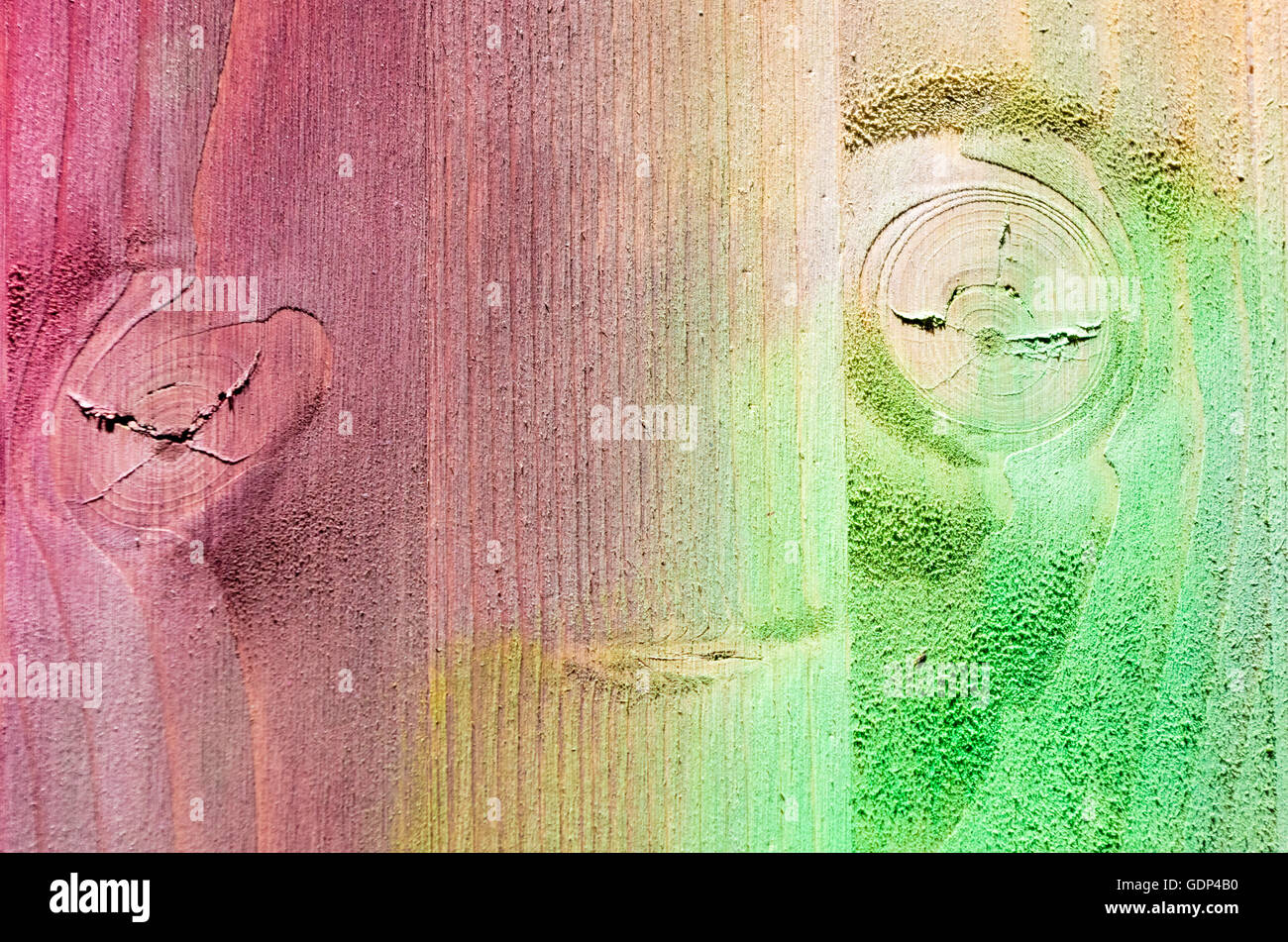 Texture of painted multi colored Wood Planks Background - Stock Image