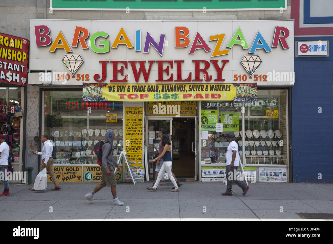 Jewelry and pawn shop along fulton mall in downtown for Tattoo shop brooklyn