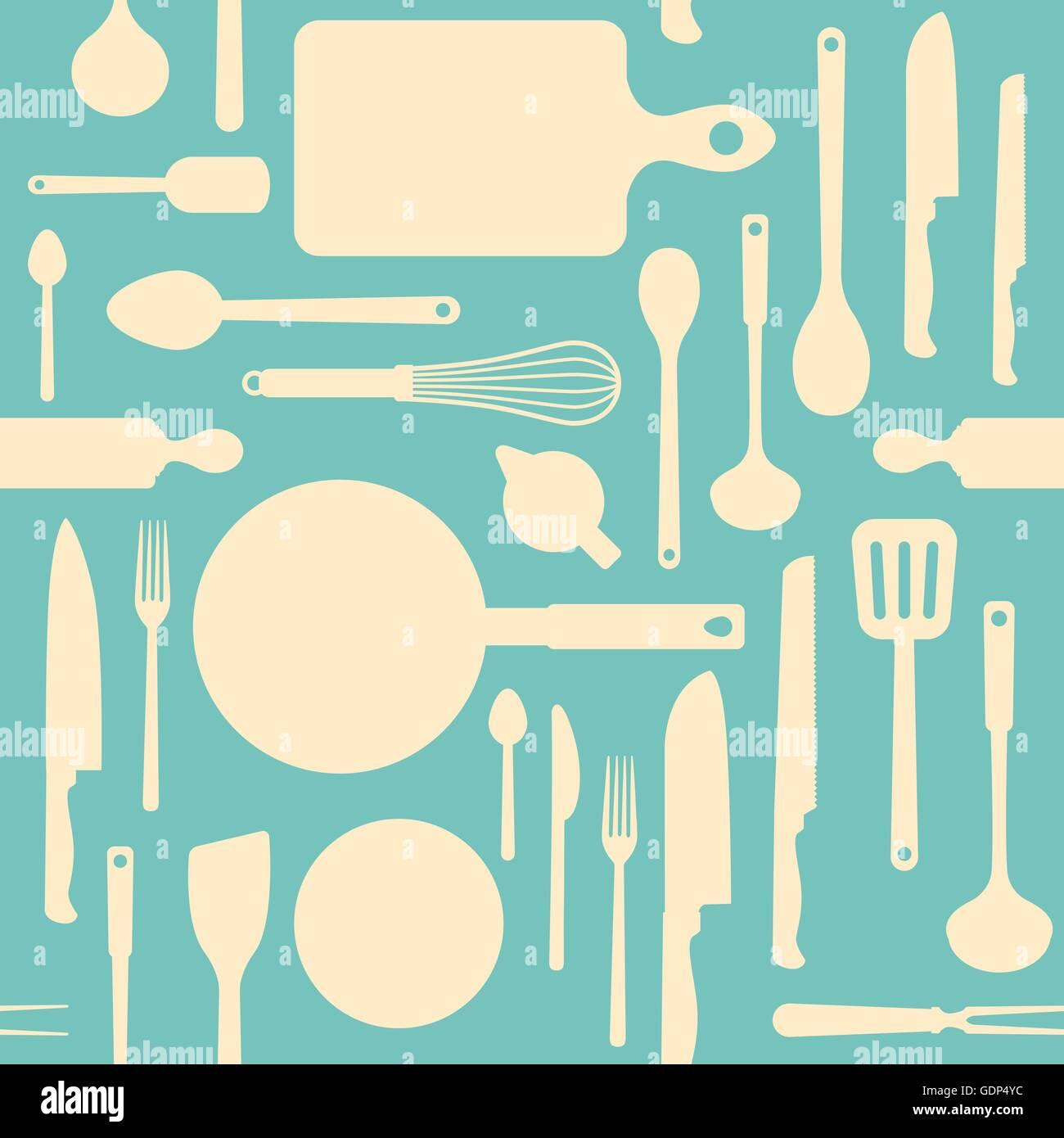 Kitchen Utensils Silhouette Vector Stock Photos & Kitchen Utensils ...