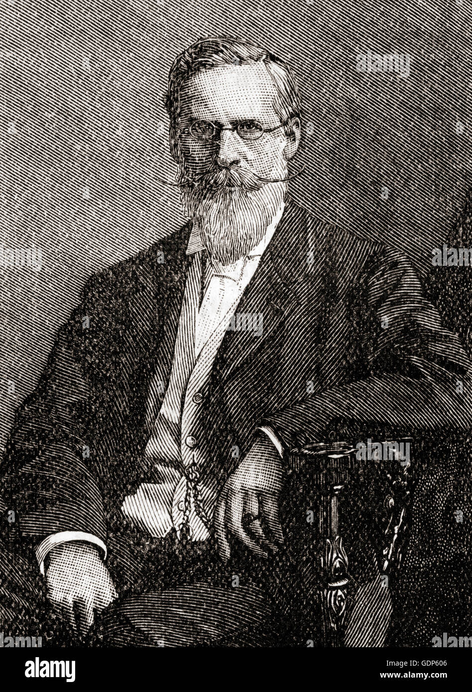 Sir William Crookes, 1832 – 1919.  English chemist,  physicist and inventor. - Stock Image
