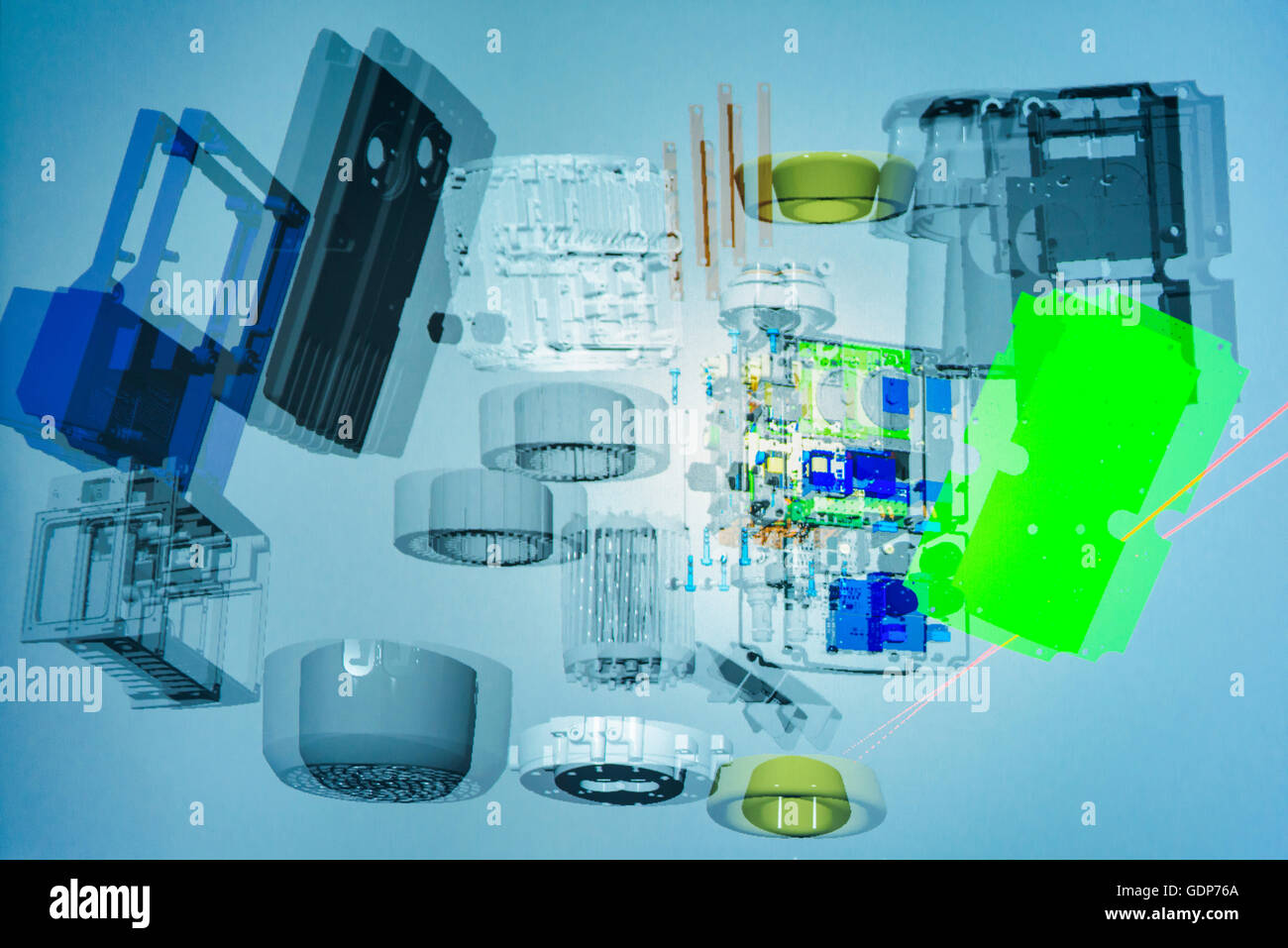 Component part 3D graphic in virtual reality suite - Stock Image