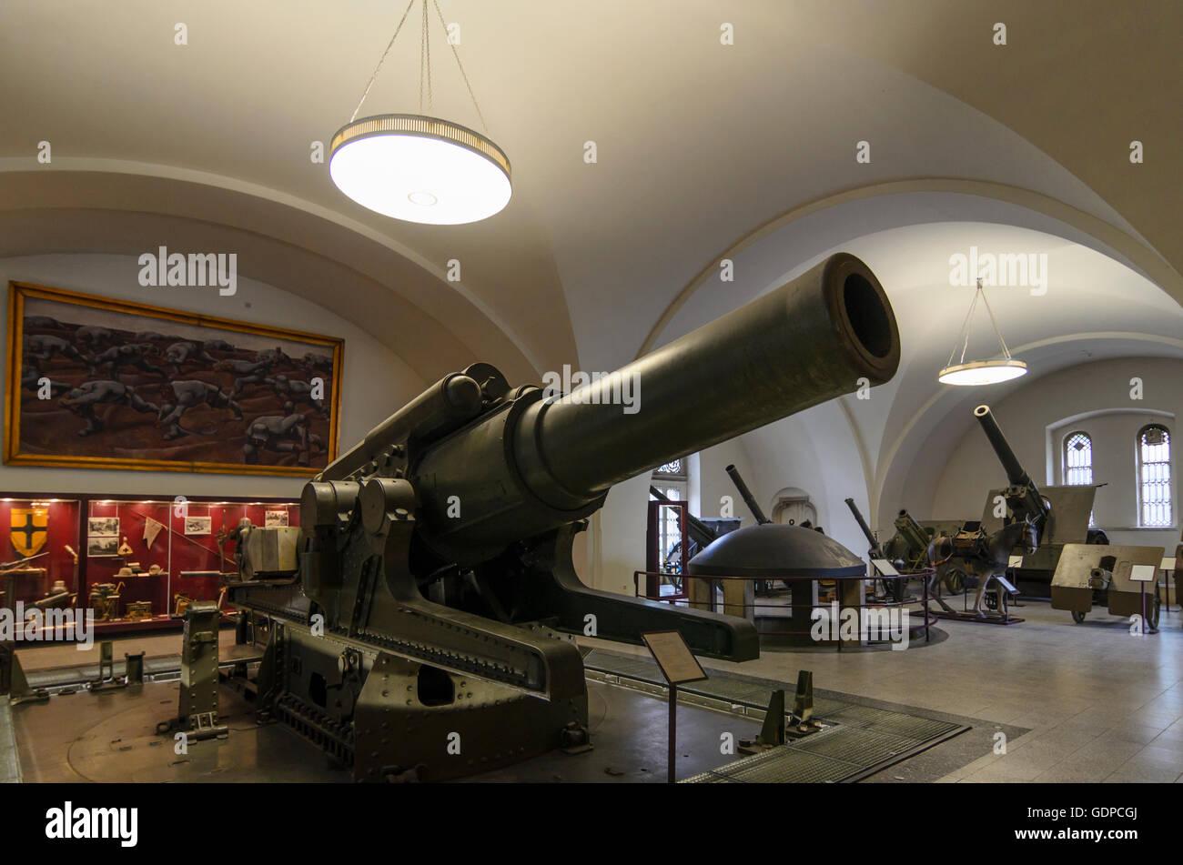 Wien, Vienna: Military Museum : Austrian 38 cm howitzer M from 1916, Austria, Wien, 03. - Stock Image