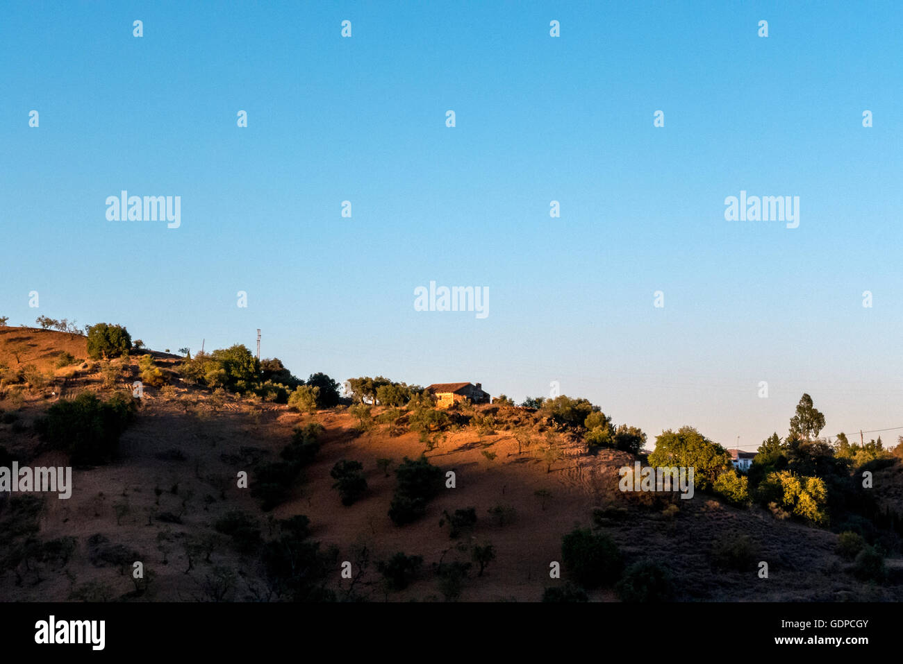 View across the mountains of Malaga province in southern Spain - Stock Image