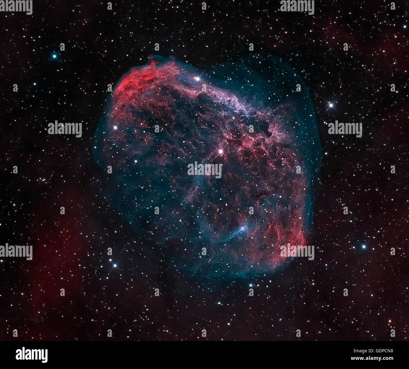The Crescent Nebula, NGC 6888. - Stock Image