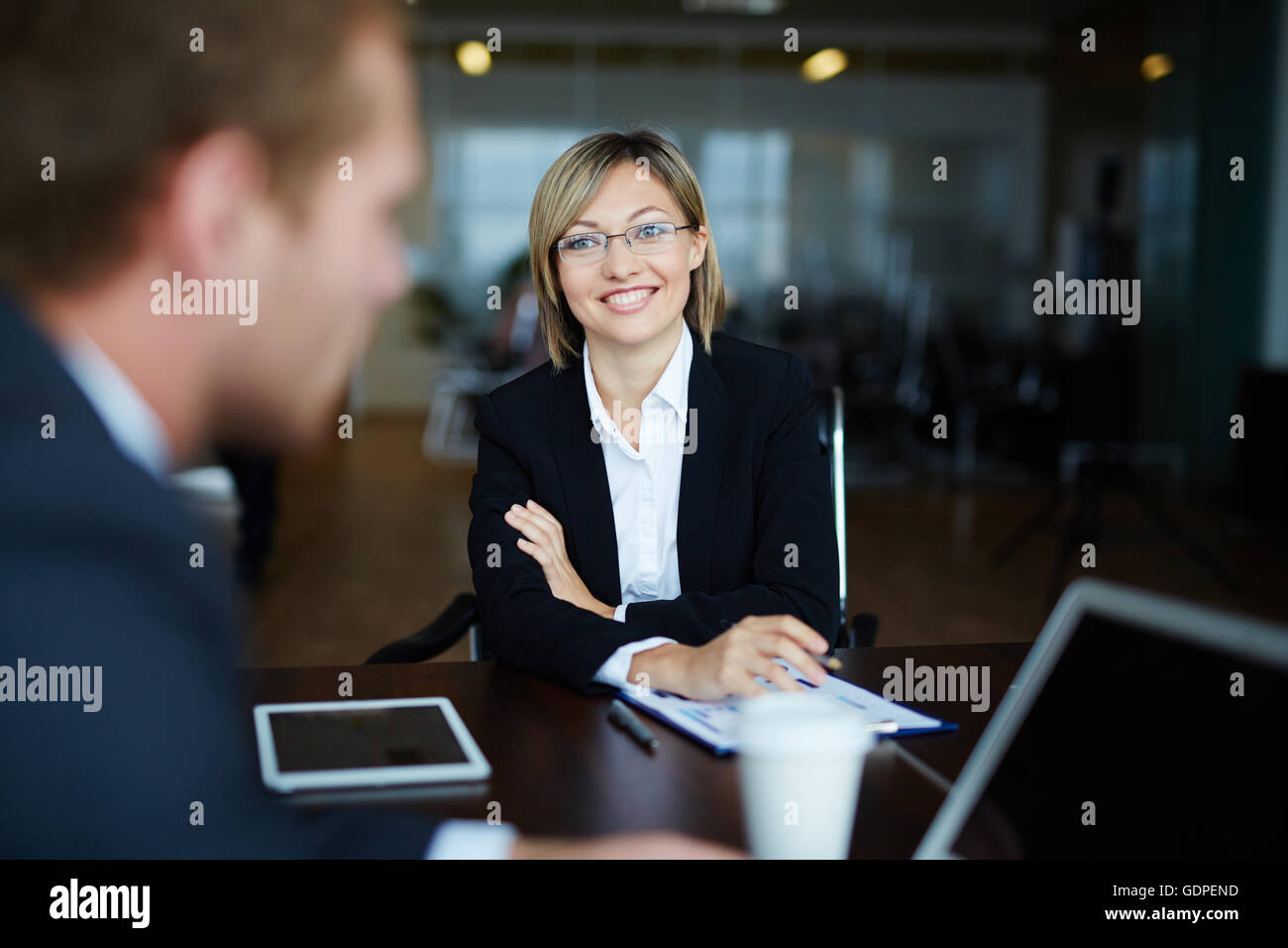 Happy young employer - Stock Image
