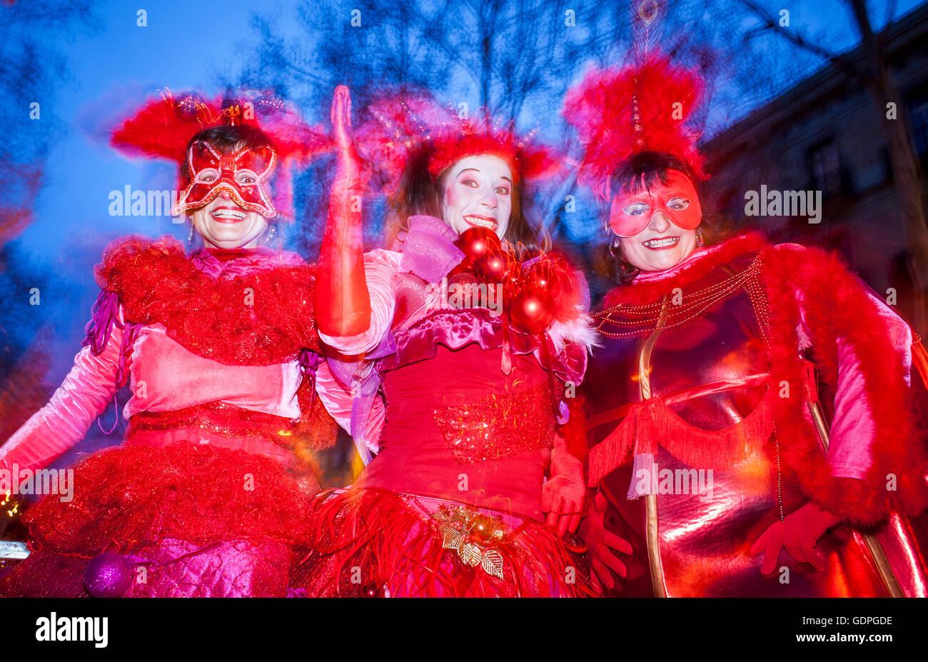 Carnival Parade In Passeig Picasso Barcelona Catalonia Spain