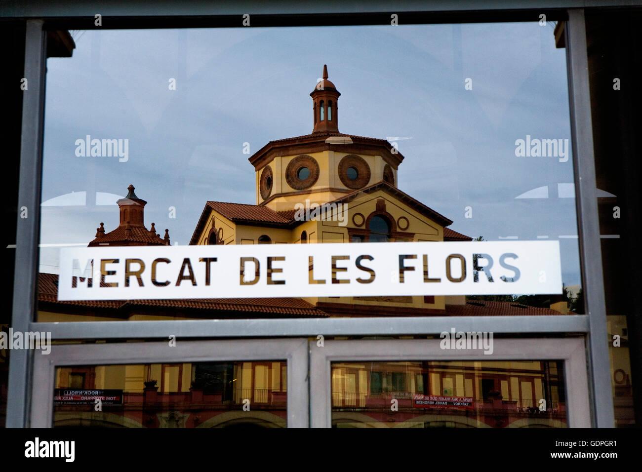 Teatre Lliure, Mercat de les Flors. Ciutat del Teatre (city theater)  Montjuic - Stock Image