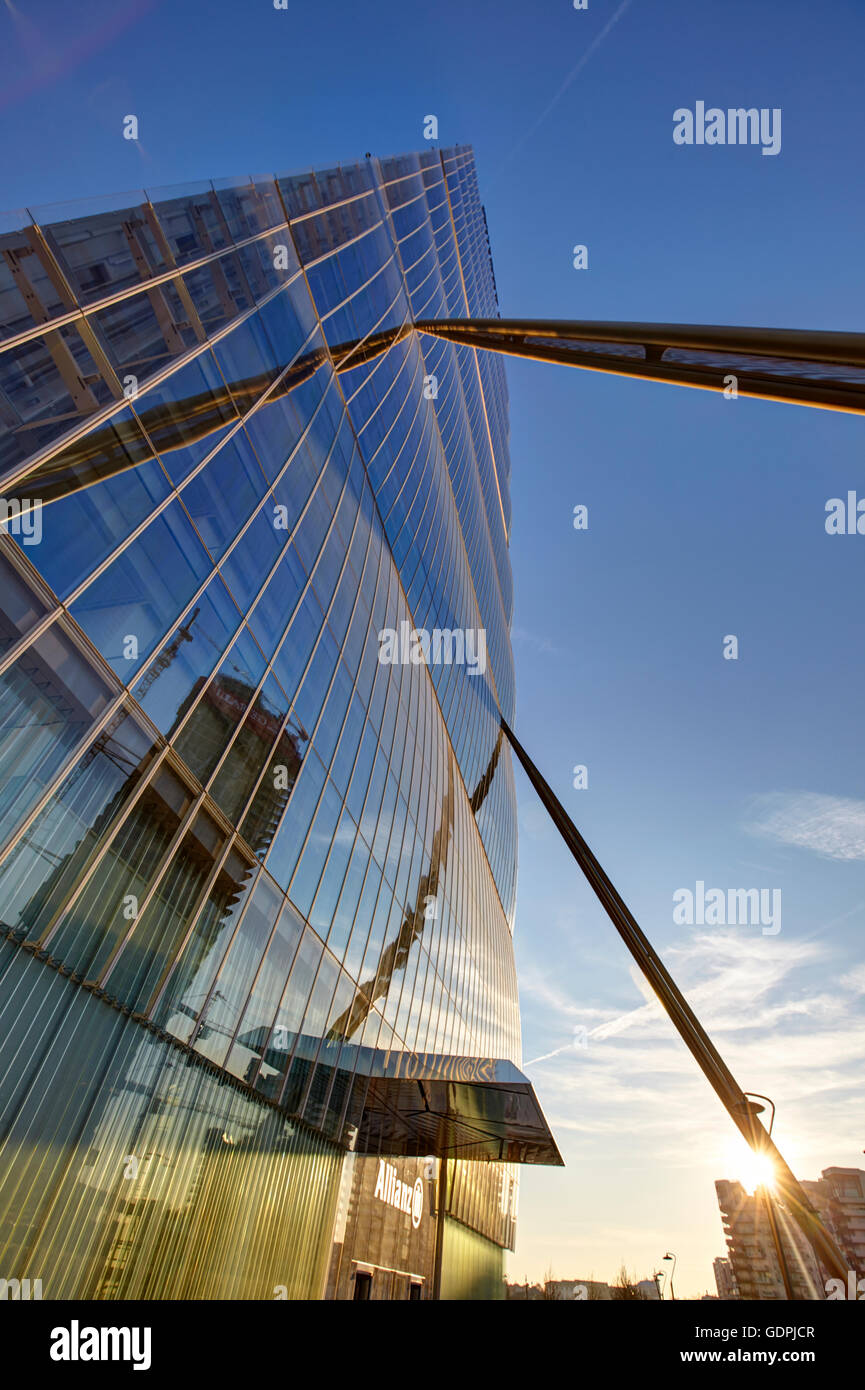 Isozaki tower in Milan, Italy - Stock Image