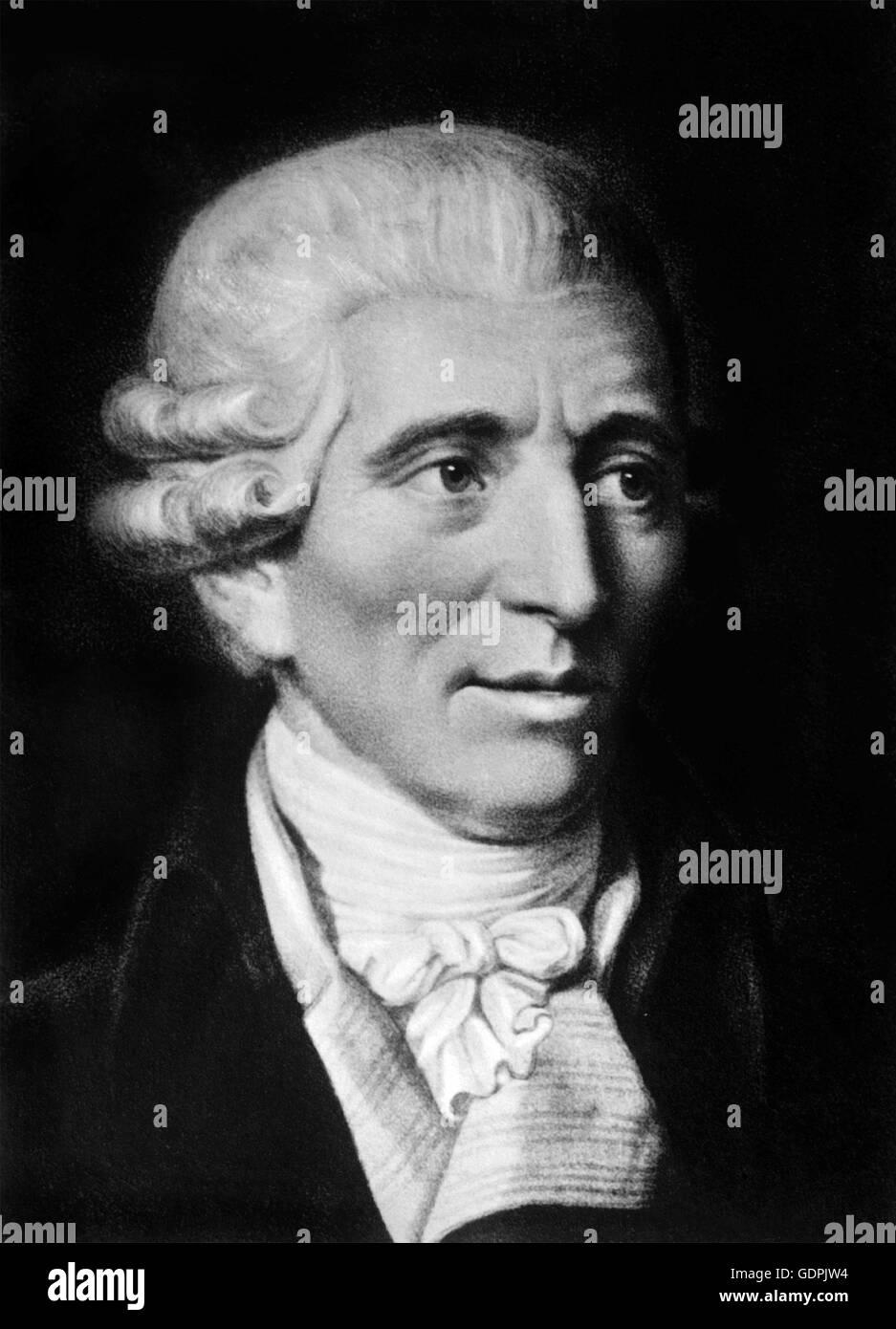 Joseph Haydn. Portrait of the Austrian composer, (Franz) Joseph Haydn (1732-1809). - Stock Image