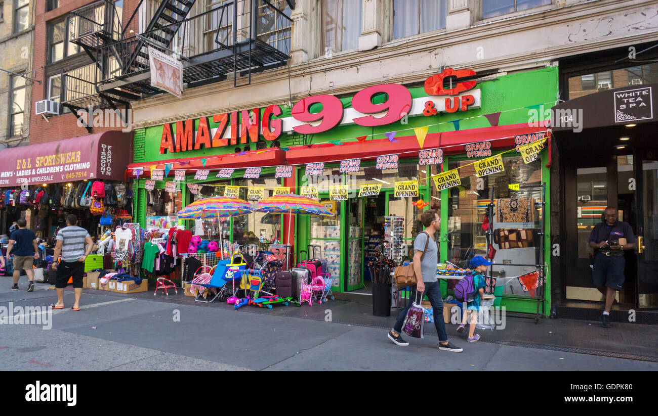 The Amazing 99 Cent Store In Greenwich Village Neighborhood Of New York Is Seen On