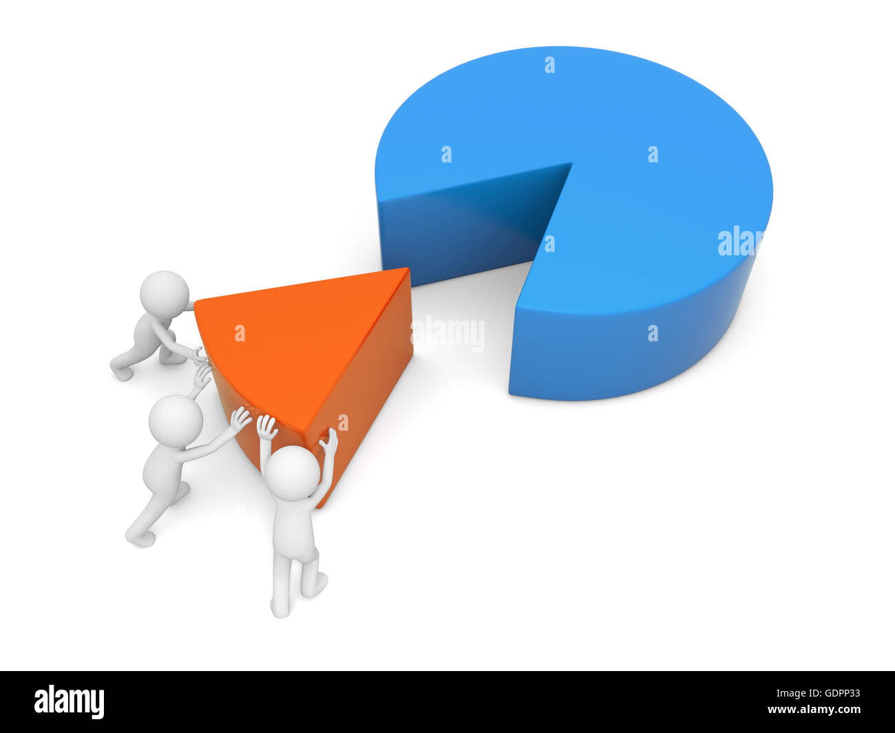Pie Chart Cut Out Stock Images Pictures Alamy