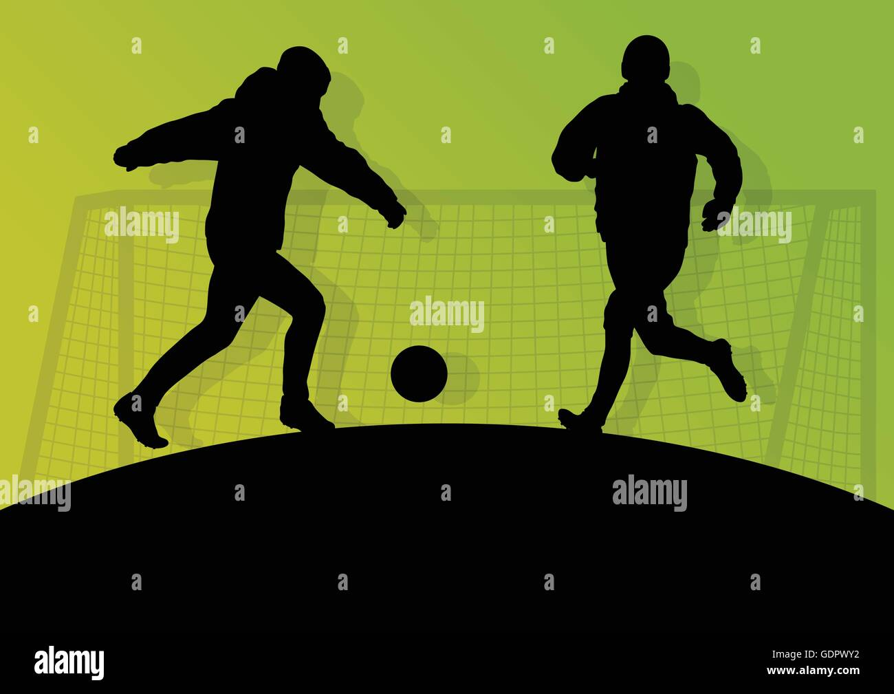Soccer player vector background concept - Stock Vector