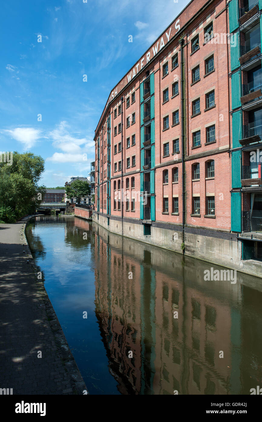 British Waterways Building at Castle Wharf on the Nottingham Canal Nottingham - Stock Image