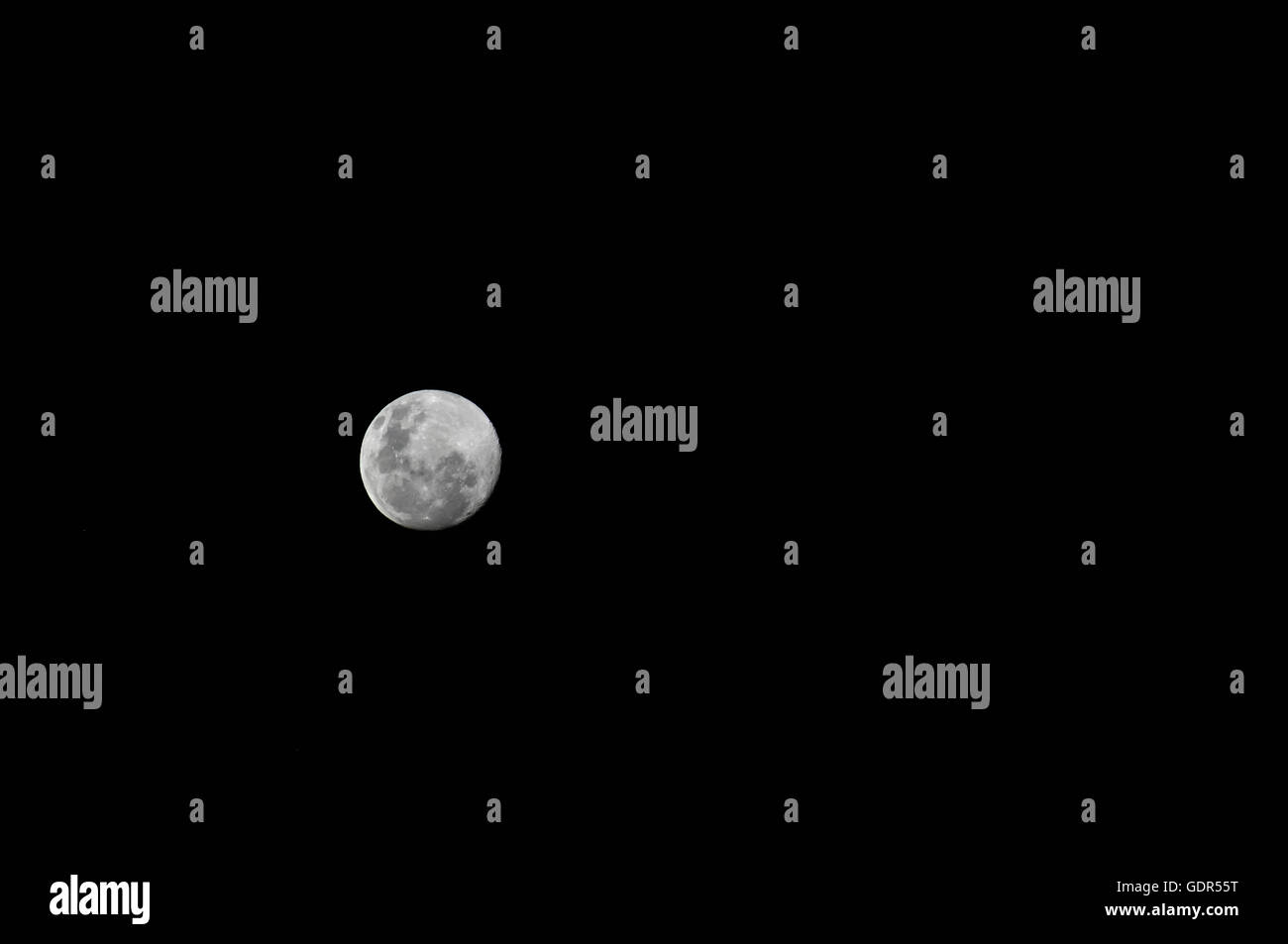 Full Moon Night Sky 2 - Stock Image