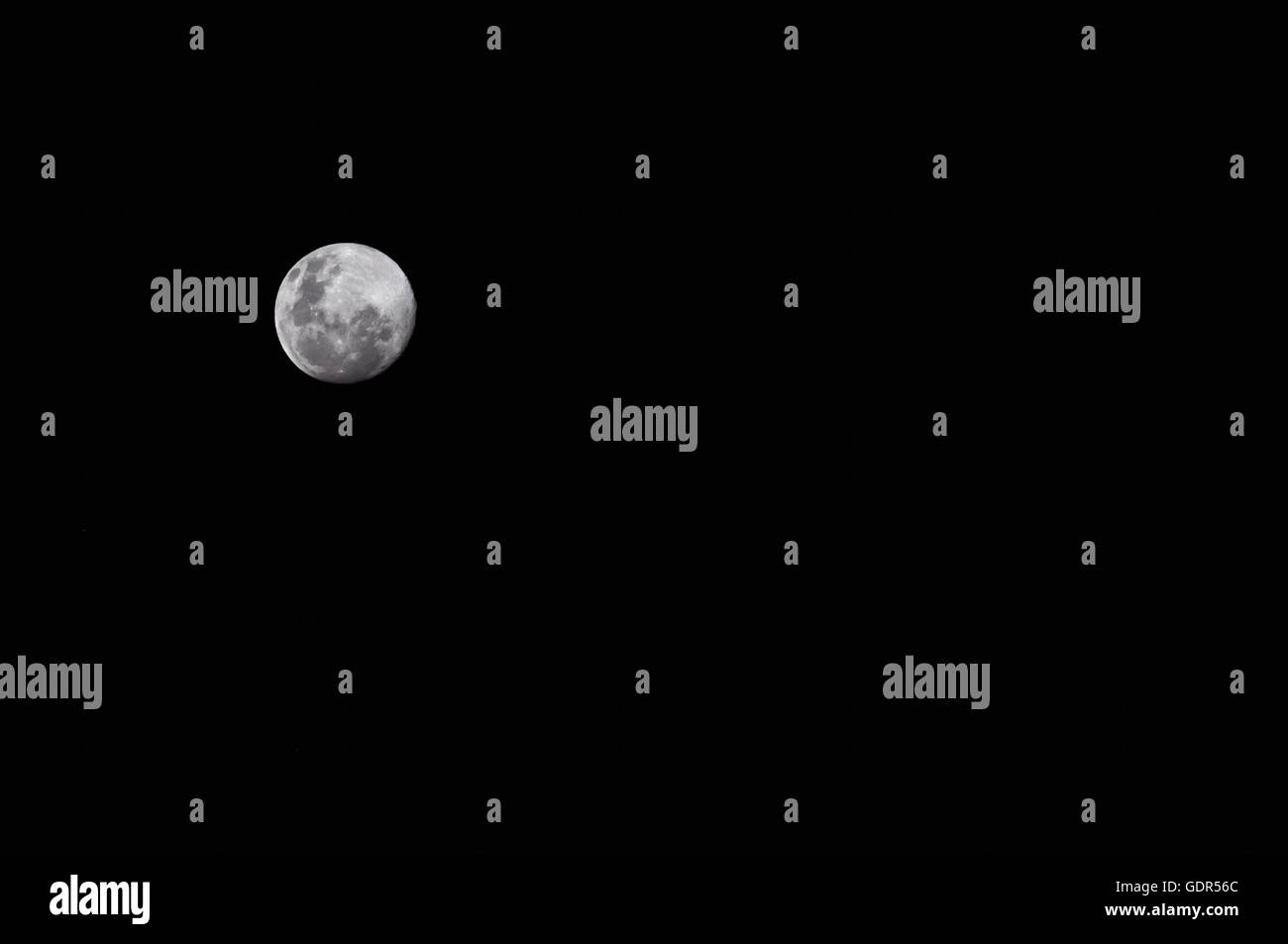 Full Moon Night Sky - Stock Image