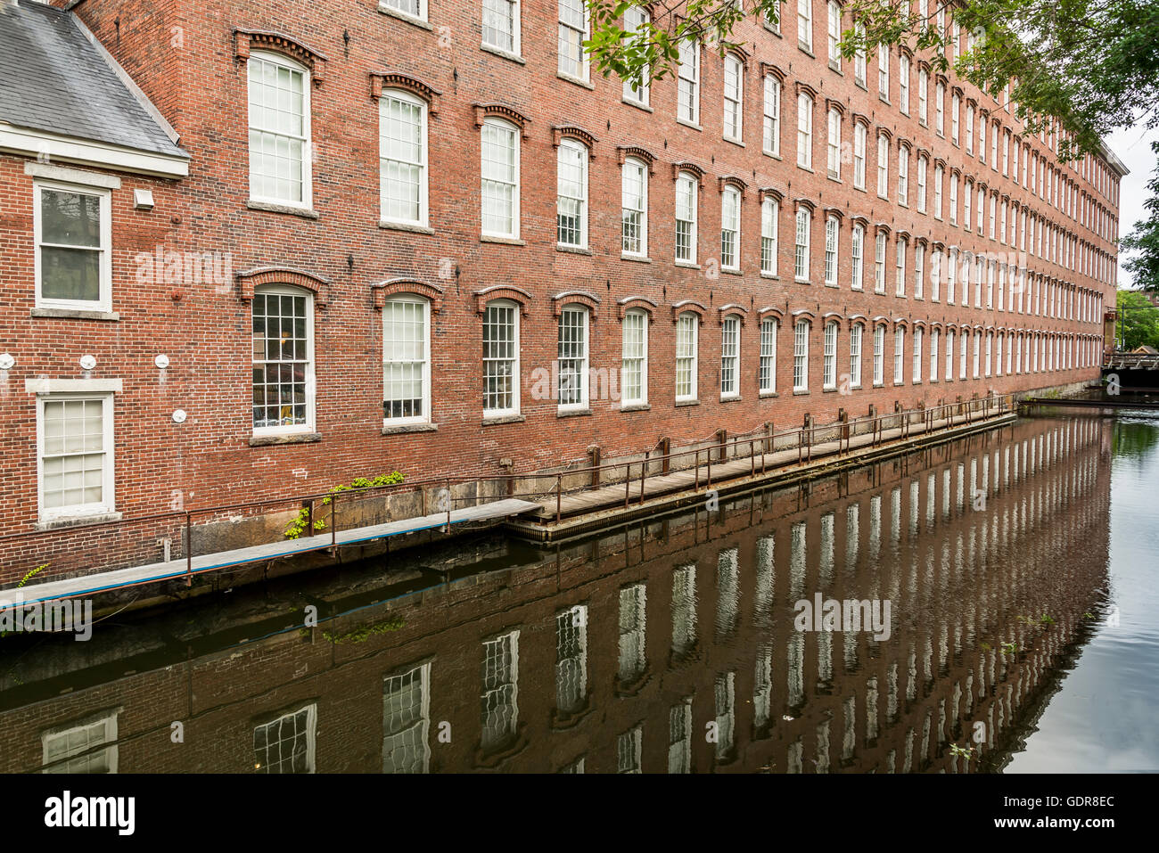 Boott Cotton Mills brick - Stock Image