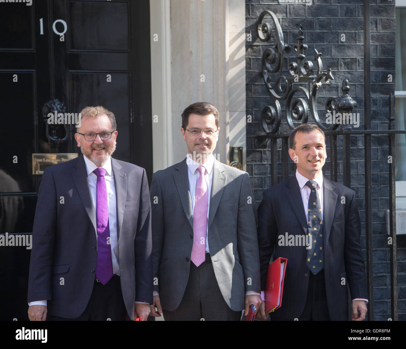 David Mundell,Scotland secretary,James Brokenshire,Secretary of State for Northern Ireland and Alun Cairns,Wales - Stock Image