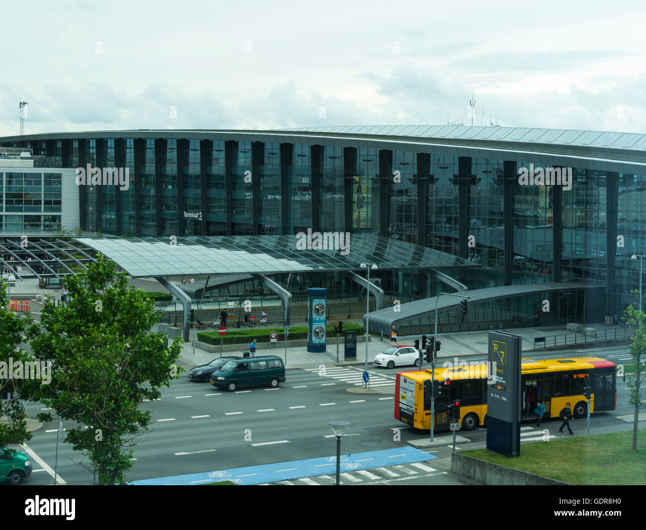 Kastrup or Copenhagen Airport Terminals the main international airport serving Denmark Southern Sweden - Stock Image