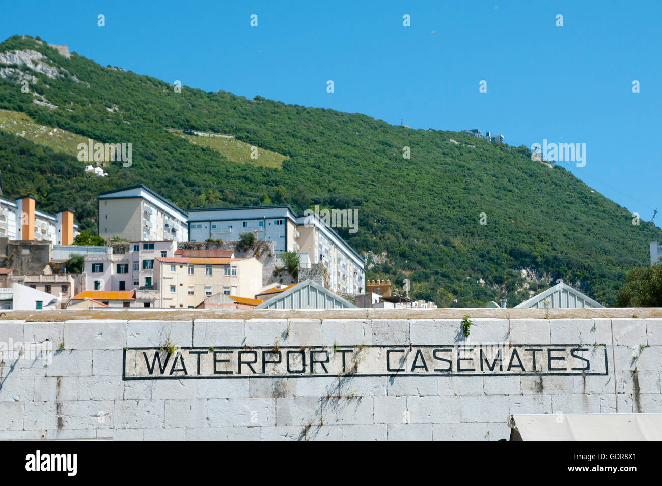 Waterport Casemates Wall - Gibraltar - Stock Image