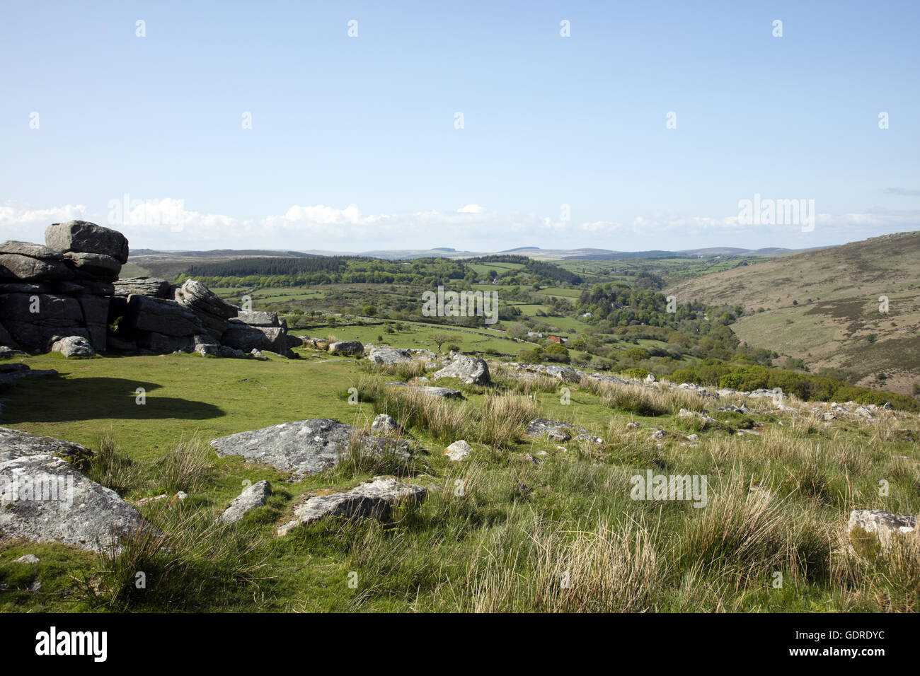 Dartmoor National Park Stock Photo