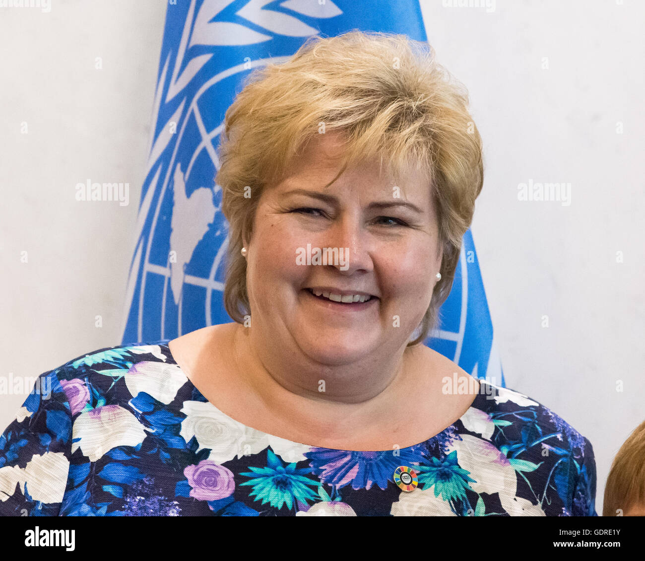 New York, United States. 19th July, 2016. In conjunction with her visit to United Nations Headquarters as a participant - Stock Image