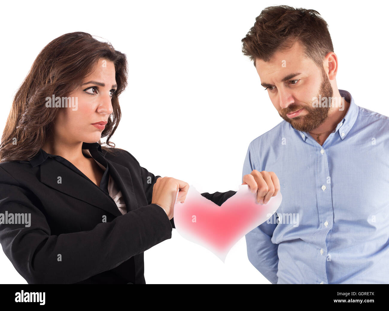 Love relationship ended - Stock Image