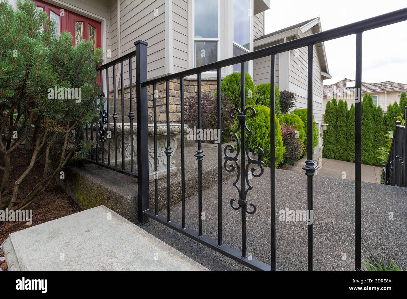 Front Door Steps Railings Stock Photos Front Door Steps Railings